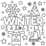 Zwart-witte vectorillustratie Kleurende pagina Royalty-vrije Stock Afbeeldingen