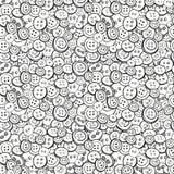 Zwart-witte vectorknopenachtergrond Royalty-vrije Stock Afbeelding