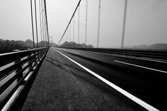 Zwart-witte viaductbrug Stock Foto's