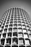 Zwart-witte vierkanten, architectuur royalty-vrije stock afbeeldingen