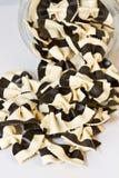 Zwart-witte vlinderdasdeegwaren Stock Fotografie