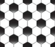 Zwart-witte voetbalbal, Vector naadloos patroon Sportmalplaatje Textuur van een voetbal royalty-vrije illustratie