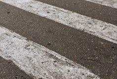 Zwart-witte voetgangersoversteekplaats Royalty-vrije Stock Foto