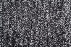 Zwart-witte wollen textuur Stock Afbeeldingen