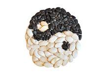 Zwart-witte zaden Stock Afbeelding