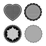 Zwart-witte zegels Royalty-vrije Stock Afbeeldingen