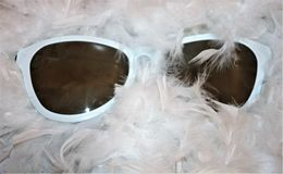 Zwart-witte zonnebril Stock Foto