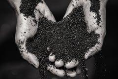 Zwart Zand Royalty-vrije Stock Afbeeldingen