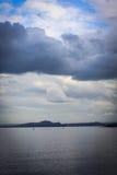 Zwart Zandstrand, Aberdour, Schotland Stock Afbeeldingen