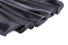Zwart zijdegordijn Stock Foto