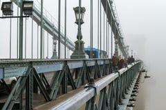Zwarta zimy mgła w Budapest Obrazy Stock