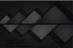 Zwarte abstracte achtergrond Stock Foto