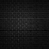 Zwarte abstracte achtergrond bakstenen muurtextuur Royalty-vrije Stock Foto's
