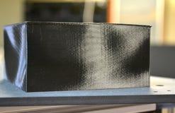 Zwarte abstracte drukobjecten 3d printer Stock Fotografie