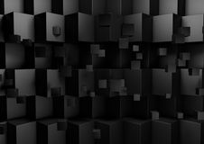 Zwarte Abstracte Geometrische Lage Polyachtergrond Stock Afbeeldingen