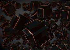 Zwarte Abstracte Geometrische Lage Polyachtergrond Royalty-vrije Stock Afbeeldingen