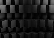 Zwarte Abstracte Geometrische Lage Polyachtergrond voor Zaken Presen Stock Afbeeldingen
