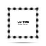 Zwarte Abstracte Halftone Vierkante Kaderachtergrond Stock Fotografie