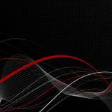 Zwarte abstracte samenstelling als achtergrond Stock Afbeelding