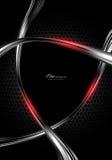 Zwarte abstracte technologieachtergrond Stock Foto's