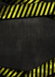 Zwarte achtergrond en gele band Royalty-vrije Stock Foto