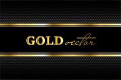 Zwarte achtergrond met een patroon in gouden stijl Stock Afbeelding