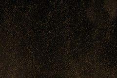Zwarte achtergrond met fonkelingen Stock Fotografie