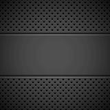 Zwarte Achtergrond met Geperforeerd Patroon vector illustratie