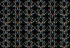 Zwarte achtergrond met multi-colored patroon Vector Illustratie