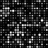 Zwarte Achtergrond met Naadloos Wit Cirkelspatroon royalty-vrije illustratie