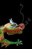 Zwarte achtergrond van de Chinese draak Royalty-vrije Stock Fotografie