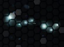 Zwarte Achtergrond van Zeshoeken vector illustratie