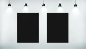 Zwarte affiche twee Royalty-vrije Stock Afbeeldingen