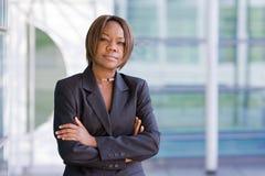Zwarte Afrikaanse Amerikaanse bedrijfsvrouw Royalty-vrije Stock Fotografie