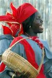 Zwarte Afrikaanse vrouw Stock Foto