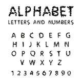 Zwarte alfabet bulom achtergrond Royalty-vrije Stock Foto