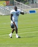 Zwarte Amerikaanse voetballer Royalty-vrije Stock Foto