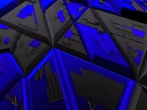 Zwarte & blauwe futuristische bouw Royalty-vrije Illustratie