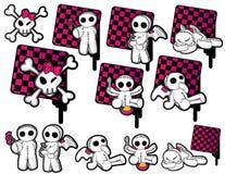 Zwarte & Roze Gespannen Pictogrammen Stock Afbeelding