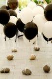 Zwarte & witte ballons Royalty-vrije Stock Foto's