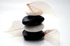 Zwarte & witte steen Royalty-vrije Stock Foto's
