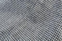 Zwarte & Witte stoffentextuur Stock Foto