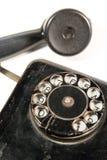 Zwarte antieke telefoon Stock Afbeeldingen