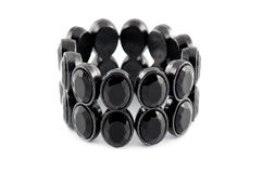 Zwarte armband Stock Fotografie