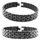 Zwarte armband voor mensen Royalty-vrije Stock Foto