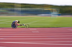 Rennende rolstoel Royalty-vrije Stock Foto