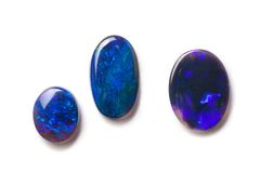 Zwarte Australische opalen Stock Afbeeldingen
