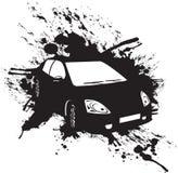Zwarte auto Royalty-vrije Stock Foto's
