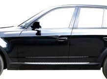 Zwarte auto Stock Afbeelding