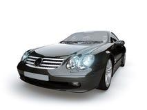 Zwarte auto Royalty-vrije Stock Afbeeldingen